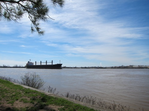 The Mississippi River, the major southern waterway into North America, like the Saint Lawrence River for the continental North East.