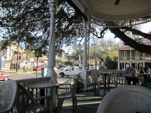 Calm on the porch in Uptown New Orleans